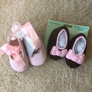 Other - Adorable nb booties and 2-3 mo ballet slippers
